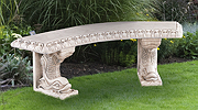 Dolphin Curved Bench
