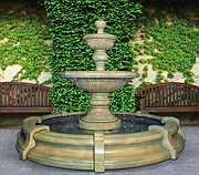 Traviata Two-Tier Fountain in Toscana Pool