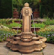 Classic Lion Pillar Fountain
