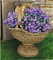 Large Pedestal Basket Planter